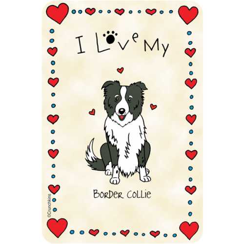 Border Collie I Love My Valentine S Day Shop By Holiday