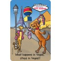 What Happens in Vegas Stays in Vegas Edible Crunch Card for Dogs