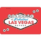 Welcome to Las Vegas (Red Sign) Edible Crunch Card for Dogs