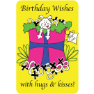 Birthday Wishes with Hugs & Kisses