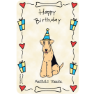 Airedale Terrier, Happy Birthday