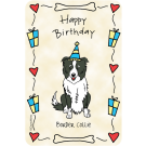 Border Collie, Happy Birthday