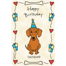 Dachshund, Happy Birthday