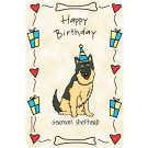 German Sheperd, Happy Birthday