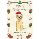 Labrador Retriever Yellow, Christmas