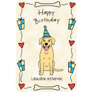 Labrador Retriever Yellow, Happy Birthday