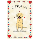 Labrador Retriever Yellow, I Love My