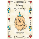 Pomeranian, Happy Birthday