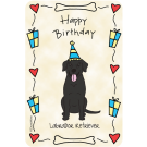 Labrador Retriever Black, Happy Birthday