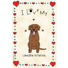 Labrador Retriever Chocolate, I Love My