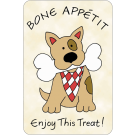 Bone Appetit, Enjoy This Treat, Edible Crunch Card for Dogs