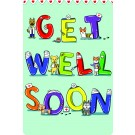 Get Well Soon Edible Crunch Card for Dogs, Green Background