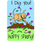 Happy Spring, I Dig You Edible Crunch Card for Dogs