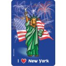 """I Love New York"" Edible Crunch Card for Dogs"