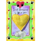 Just BePaws I Love You Catnip Toy Greeting Card