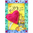 To Kitty With Love Catnip Toy Greeting Card