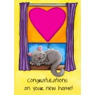 Congratulations On Your New Home, Catnip Toy Greeting Card