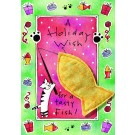 Holiday Wish , Tasty Fish Catnip Toy Greeting Card