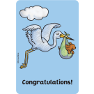 Congratulations (Stork) Edible Crunch Card for Dogs