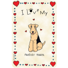 Airedale Terrier,     I Love My