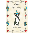 Boston Terrier, Happy Birthday