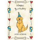 Golden Retriever, Happy Birthday