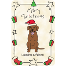 Labrador Retriever Chocolate, Merry Christmas