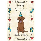 Labrador Retriever Chocolate, Happy Birthday